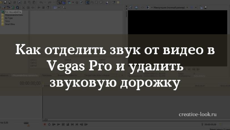 Как отделить звук от видео в Vegas Pro